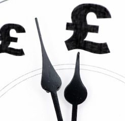 Clock With Pound And Signs